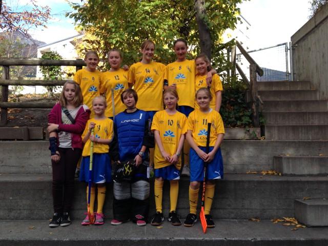 Die C-Juniorinnen an ihrer 2. Meisterschaftsrunde in Chur